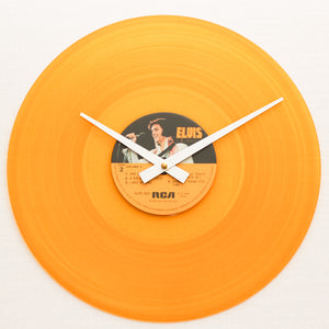 "Elvis Presley <br>50,000,000 Fans<br> 12"" Orange Vinyl Clock"