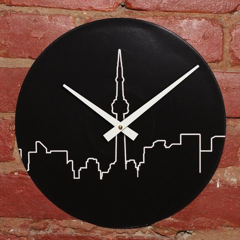 "City Skyline<br>Original Design<br>12"" Vinyl Clock"