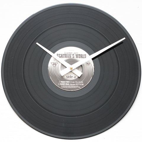 "Scatman John<br> Scatman's World <br>12"" Vinyl Clock"
