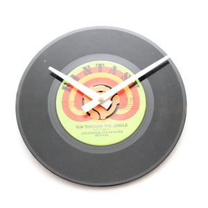 "CCR<br>Run Through The Jungle<br> 7"" Vinyl Clock"