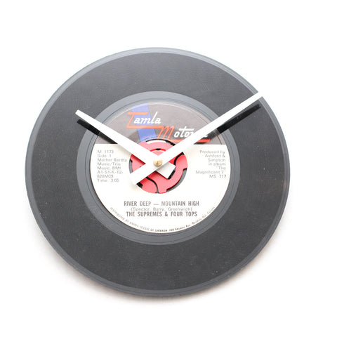 "The Supremes &<br>Four Tops<br>River Deep-Mountain High<br>7"" Vinyl Clock"