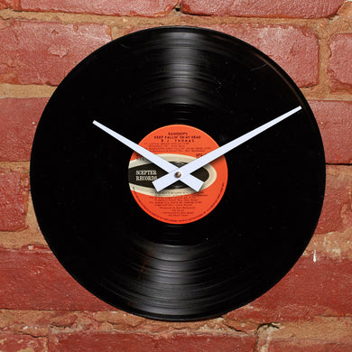 B.J Thomas - Raindrops Keep Fallin' On My Head - Authentic Vinyl Clock Made From Original LP Record