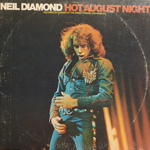 Neil DIamond - Hot August Night - Authentic Vinyl Clock Made From Original LP Record
