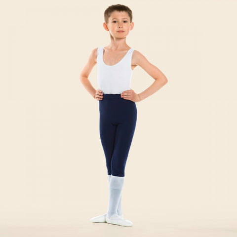 Boys white sleeveless leotard