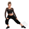 Adult crop genie black pants