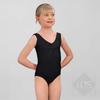 Black ruched front leotard