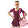 "Burgundy ""Hannah"" skirted leotard"