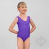 Dark purple ruched front leotard