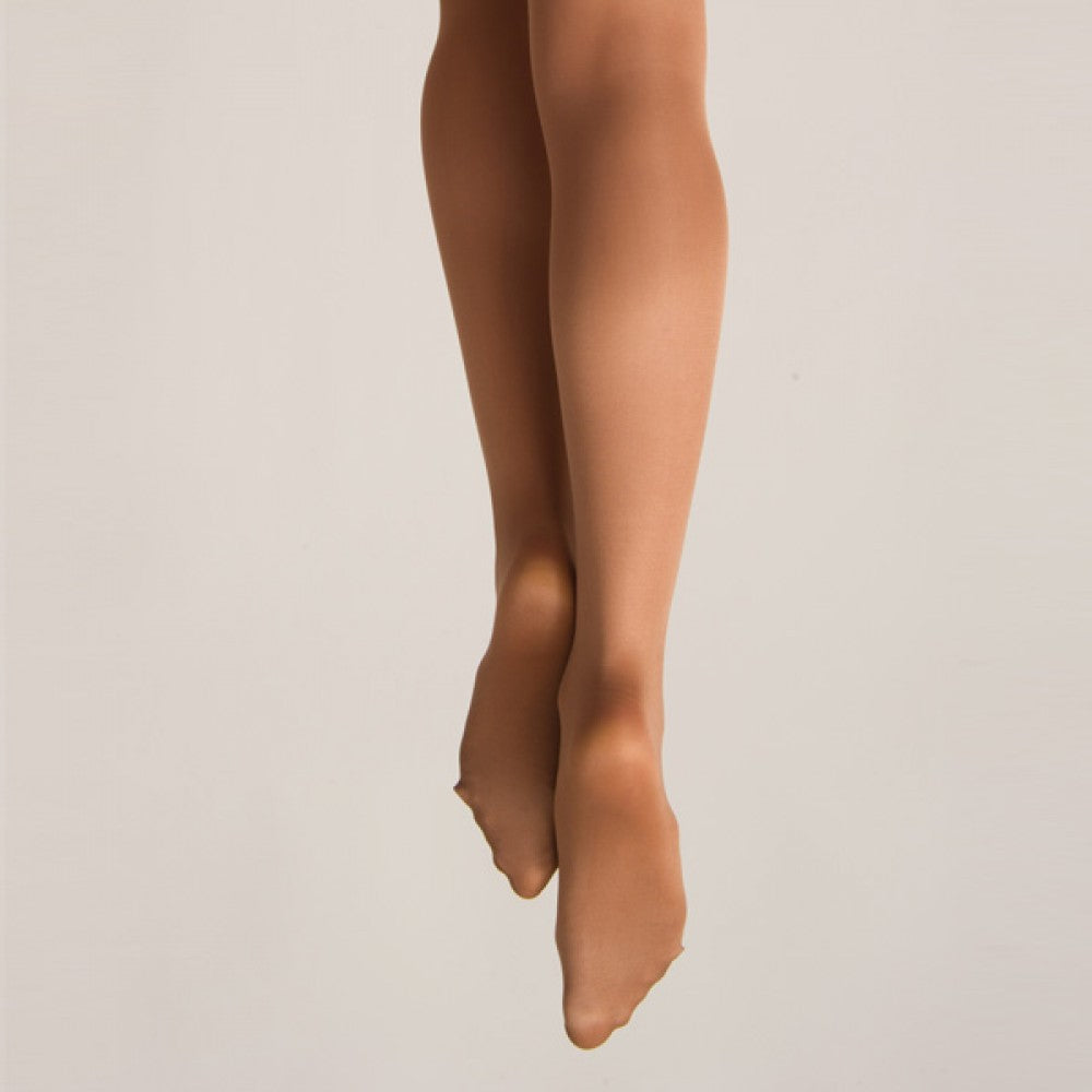 Shimmer Full Footed Tights - Light toast