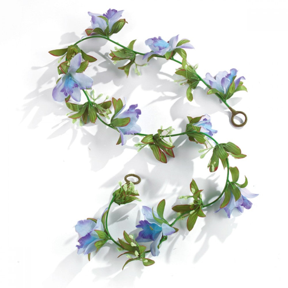 Artificial Flower Garland - Blues