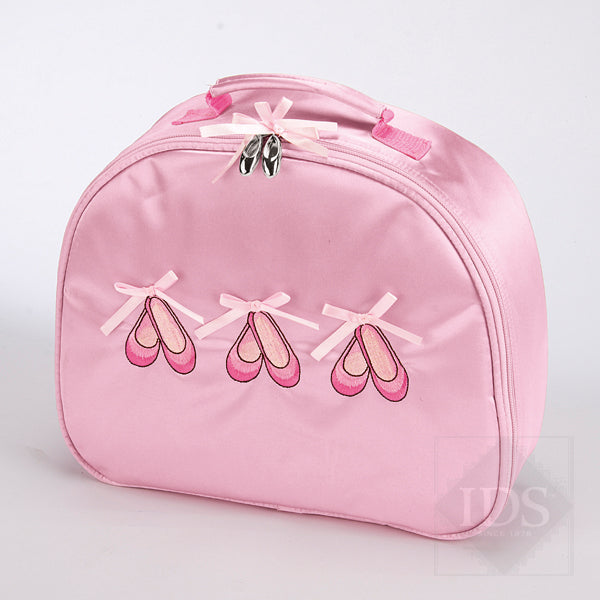Katz pink satin ballet shoes vanity case