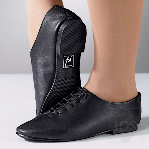 Black leather jazz shoes