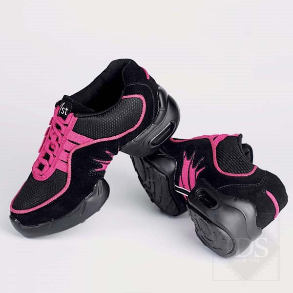 Black/pink street shoes