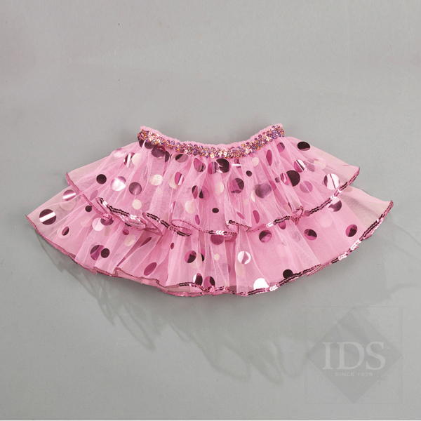 Pink spotty mirror dot skirt