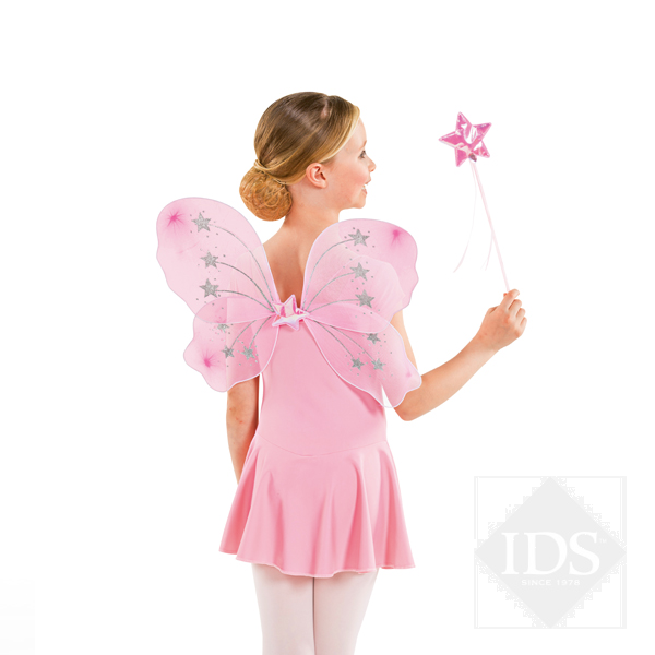 Pink fairy wings and wand