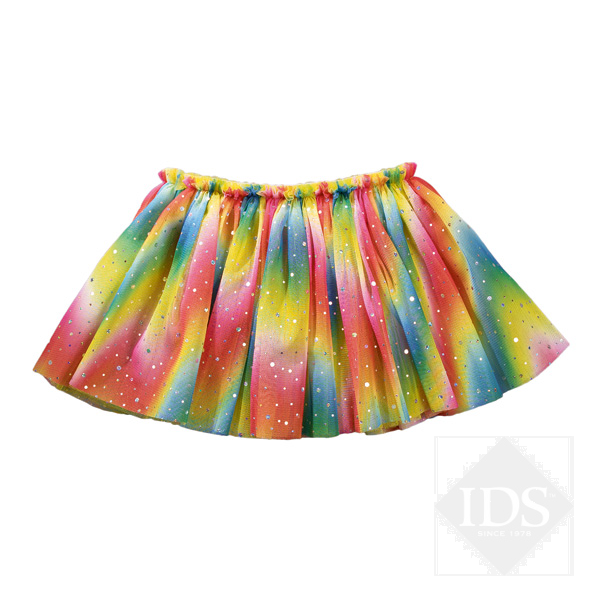 Rainbow multi coloured sequin skirt