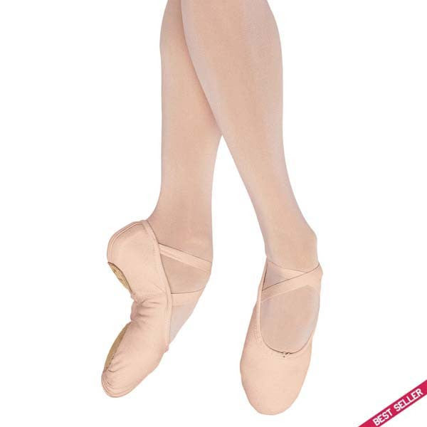 Bloch pump split sole canvas ballet shoes