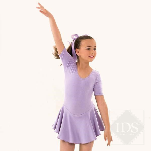 Lilac skirted leotard