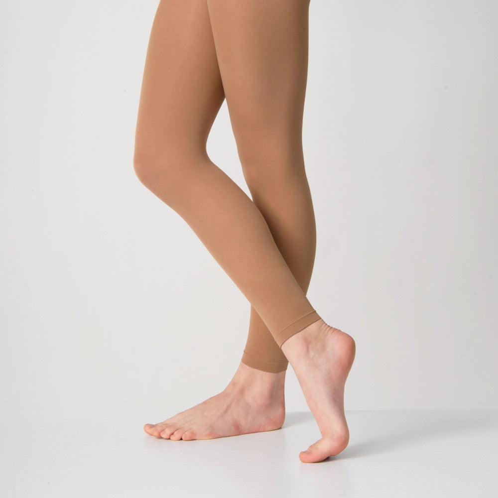 Tan footless tights
