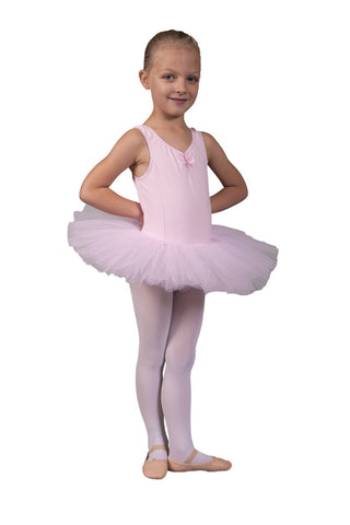 Pink tutu on cotton leotard
