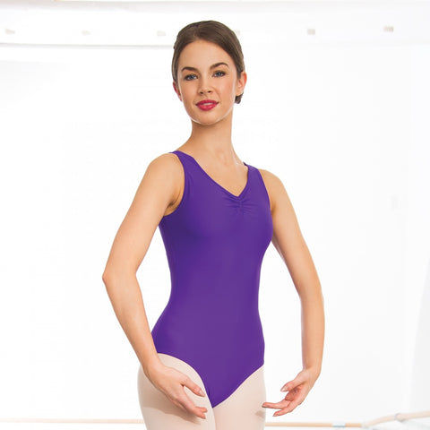 Helena ruched front leotard