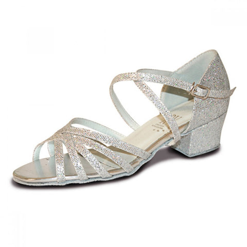 Bella silver ballroom shoes