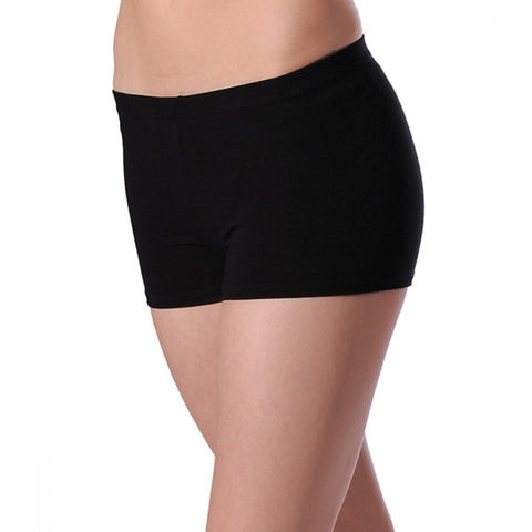 Black cotton hipster hot pants