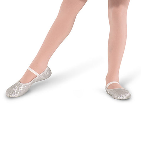 Bloch sparkly silver ballet shoes