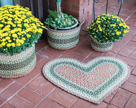 Braided Rugs - Hearts