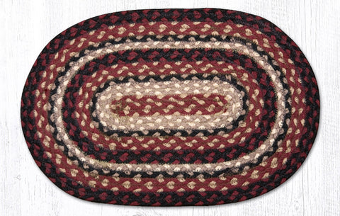 MS-344 Burgundy/Black/Tan Miniature Swatch