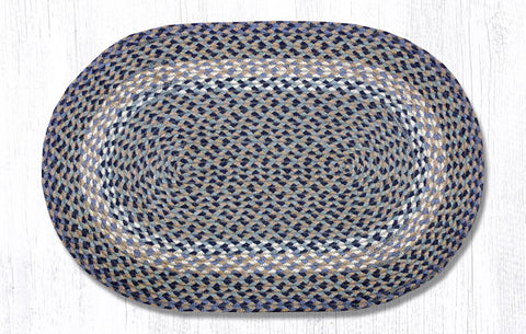 C-005 Blue/Natural Braided Rug