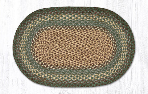 C-013 Dark Green Braided Rug
