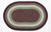 C-015 Blue/Burgundy Braided Rug