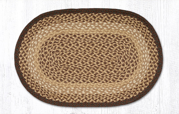 C-017 Chocolate/Natural Braided Rug