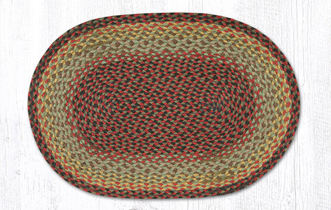 C-081 Burgundy/Black/Sage Braided Rug