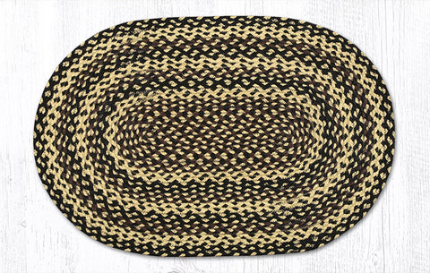 C-123 Ebony/Ivory/Chocolate Braided Rug