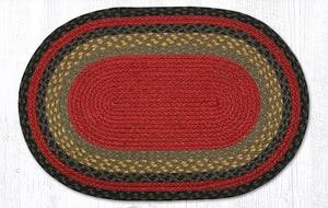 C-238 Burgundy/Olive/Charcoal Braided Rug