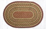 C-324 Olive/Burgundy/Gray Braided Rug