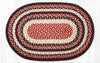 C-344 Burgundy/Black/Tan Braided Rug