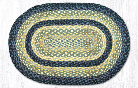 C-362 Breezy Blue/Taupe/Ivory Braided Rug