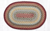 C-417 Thistle Green/Country Red Braided Rug