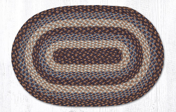 C-743 Blue Braided Rug