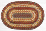 C-784 Taupe/Golden Rod/Terracotta Braided Rug