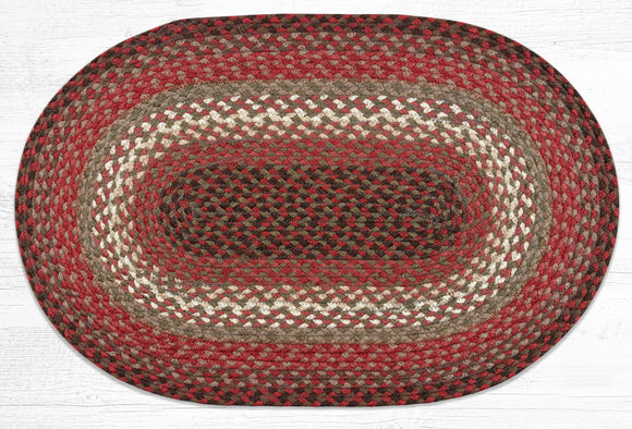 C-785 Taupe/Rose/Burgundy Braided Rug