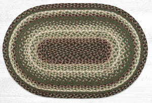 C-786 Taupe/Dark Brown/Cactus Braided Rug