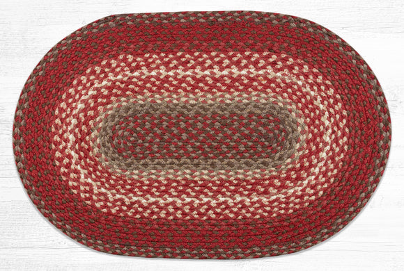 C-789 Taupe/Chestnut/Chili Pepper Braided Rug
