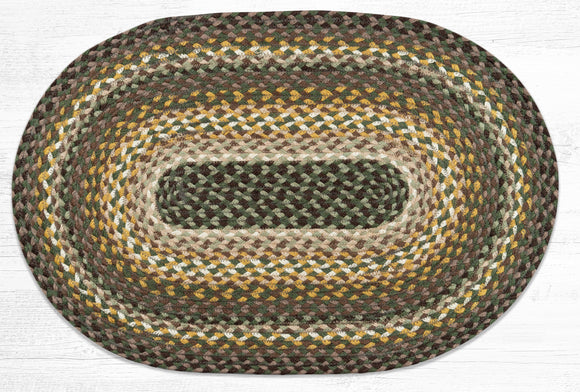 C-793 Chestnut/Golden Rod/Cactus Braided Rug