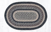 C 9-93 Black + Tan Braided Rug