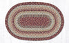 C 9-95 Burgundy Braided Rug