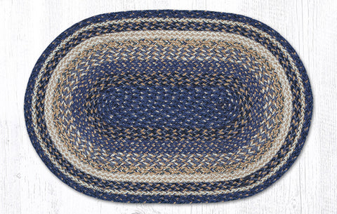 C-9-097 Deep Blue Braided Rug